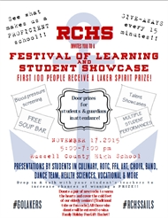 Festival of Learning 2015 at RCHS