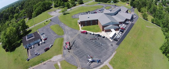 Jamestown Fire, Jamestown Police, Kentucky 3 from Air Methods and Russell County EMS participating in HEROES Day 2017.